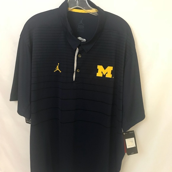 Michigan Jordan Gear >> Nike Air Jordan University Of Michigan Polo Men S Nwt
